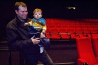 Hvězdný táta se synem. Je fajn být tátou, je skvělé být hvězdným tátou!:-)